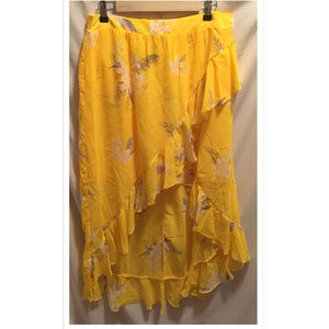 Size Large Skirt A New Day Yellow Floral NWoT